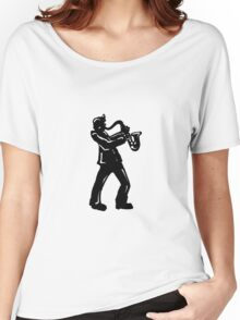 New York Boogie Nights Saxophone Women's Relaxed Fit T-Shirt