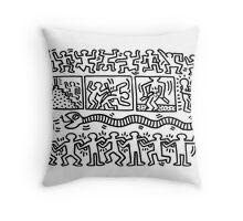 keith haring Throw Pillow