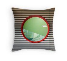 urban geometry 2 - glass, aluminium, steel, paint Throw Pillow