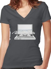 LAPWRITER Women's Fitted V-Neck T-Shirt