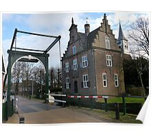 The old city hall of Jisp Noord-Holland the Netherlands Poster