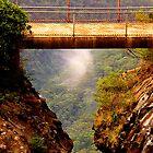 Vertigo  #2 - Cliff Walk  - Blue Mountains World Heritage Area, Sydney , Australia - The HDR Experience by Philip Johnson