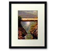 Vertigo  #2 - Cliff Walk  - Blue Mountains World Heritage Area, Sydney , Australia - The HDR Experience Framed Print