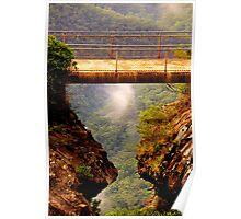 Vertigo  #2 - Cliff Walk  - Blue Mountains World Heritage Area, Sydney , Australia - The HDR Experience Poster