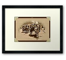 Carriages at Luxor Framed Print