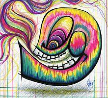 Rainbow Spectrum Skull by chrispanila