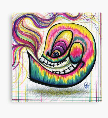 Rainbow Spectrum Skull Canvas Print