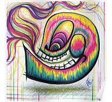 Rainbow Spectrum Skull Poster
