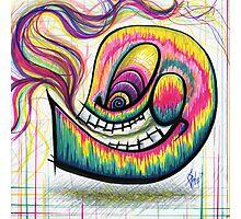 Rainbow Spectrum Skull Photographic Print