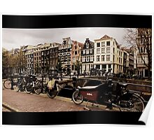 Amsterdam Buildings Canal Poster