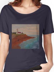 PEI Lighthouse Women's Relaxed Fit T-Shirt