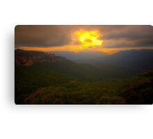 Light In The Valley - Blue Mountains World Heritage Area, Sydney Australia -The HDR Experience Canvas Print