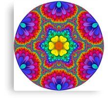 Rainbow Flower Mandala Canvas Print