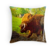 Highland Cattle #2 Throw Pillow