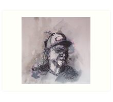 Up too late listening to Leonard Cohen Art Print