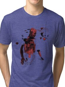 love and gravity - black and red version Tri-blend T-Shirt