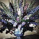 lovely blue arrangement, Chateau de Chenonceau, France by BronReid