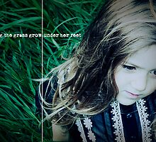 letting the grass grow under her feet by aglaia b