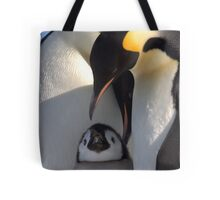 Emperors and Chick - Snow Hill Island Tote Bag