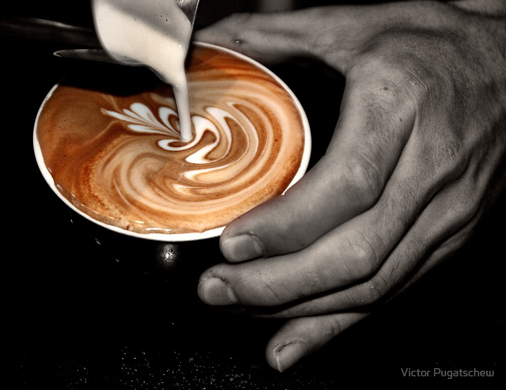 Latte Art. by Victor Pugatschew