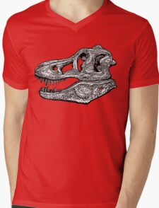 T-Rex Skull  Mens V-Neck T-Shirt