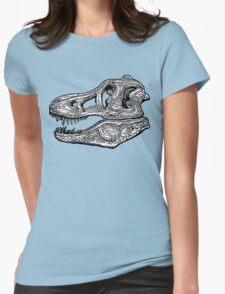 T-Rex Skull  Womens Fitted T-Shirt