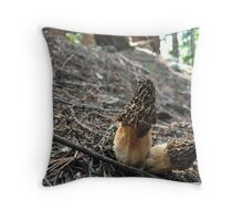 Dried Morels  Throw Pillow