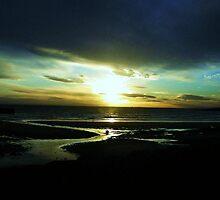 Sunset on the beach - Elie, Fife, Scotland by mela80