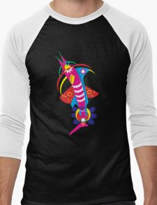 Decorated fishes  Men's Baseball ¾ T-Shirt