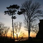 Sundown at Lympne by Dave Godden