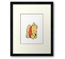 sleepy pooh bear Framed Print