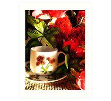 Valentine Cuppa Art Print