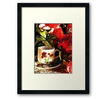 Valentine Cuppa Framed Print