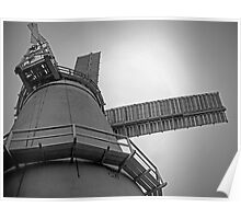 Looking up at the Windmill (Denver) - monochrome Poster