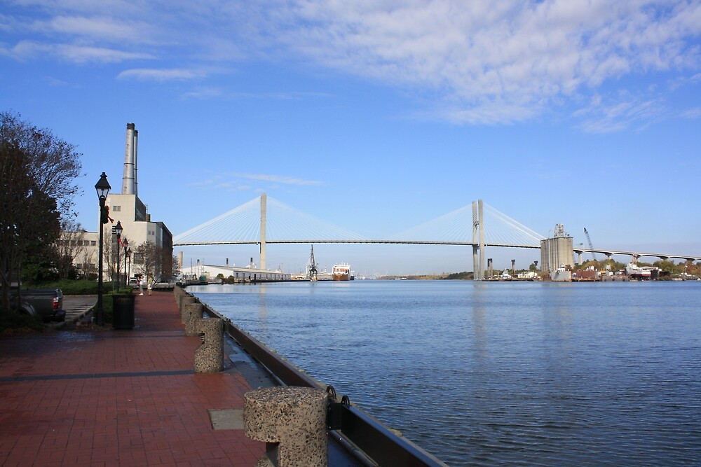 Eugene Talmadge Memorial Bridge by Yajhayra Maria