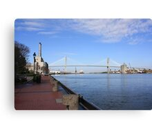 Eugene Talmadge Memorial Bridge Canvas Print