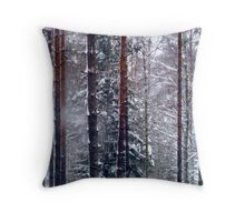 Snow Storm Strikes Throw Pillow