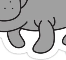 M for Manatee Sticker