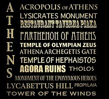 Athens Famous Landmarks by Patricia Lintner