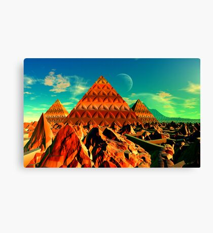 Valley of the Pyramid Builders Canvas Print