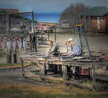 Cleaning Halibut - Ninilchik, Alaska by Dyle Warren