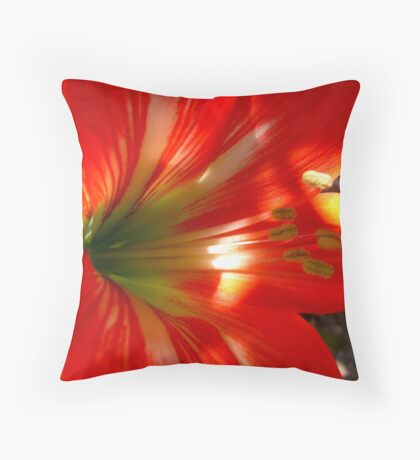 Amaryllis Throw Pillow