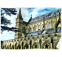 Another Angle...Salisbury Cathedral Poster