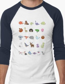 The Animal Alphabet Men's Baseball ¾ T-Shirt