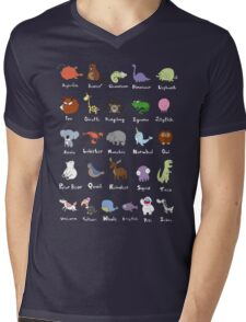 The Animal Alphabet Mens V-Neck T-Shirt