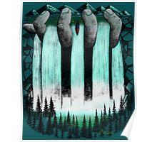 Hand Held Waterfall Poster