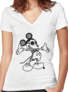 Ratón Miguelito - Black Women's Fitted V-Neck T-Shirt