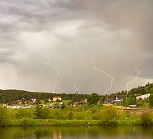 Rollinsville Colorado Lightning Thunderstorm by Bo Insogna