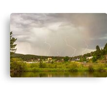 Rollinsville Colorado Lightning Thunderstorm Canvas Print