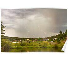 Rollinsville Colorado Lightning Thunderstorm Poster
